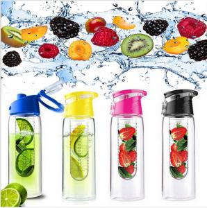 China Fruit infuser Water Bottles Drinkware Type and Stocked,Eco-Friendly Feature Tritan Water Bottle with Fruit Infuser on sale
