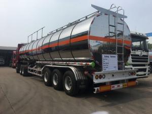 China Oil Tank Trailer Fuel Delivery Truck Semi Trailer 45CBM Aluminium Alloy Thermal Insulation on sale