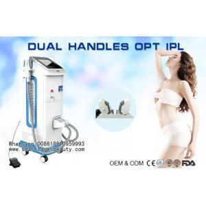 China 2017 Newest OPT IPL Hair Removal Machine / Dual Handles SHR IPL Equipment on sale
