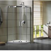 Semi - Frameless Curved Glass Shower Door Enclosures For Bathroom 100 X 100 X 195 cm