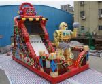0.55PVC inflatable dry slide 4×8Meter commercial inflatable slide Red inflatable slip slide adult inflatable slide