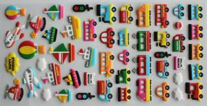 China Japan Style Puffy Stickers for Kids  with Funny 3D Foam Soft PVC on sale