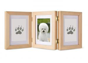 China Solid Wood Pet Photo Collage Frame Ink Pad For Pet Paw Print on sale