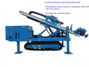China Φ150~Φ250 Hydraulic Impact  80~100 m   Top Drive Anchor Drilling Rig on sale