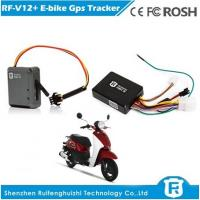 China Cell phone sim card gps tracker software and alarm for electri bicyclerf-v12+ on sale