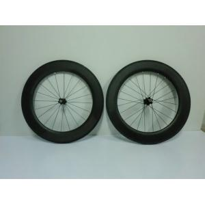 Quality 700C 86mm Carbon Clincher Wheelset Tubular Bike Wheels of 20 - 24 Holes for sale