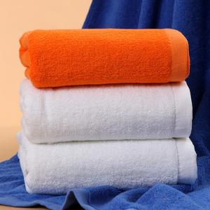 China Hotel & Spa Cheap Good Quality One Color Cotton Customized Bath Towel Face Towel Hand Towe on sale