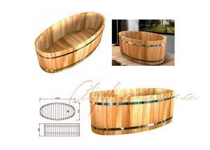 China 1 подвига стойки ванны персоны комната ливня пола ванной комнаты овального деревянного одного фантастичная on sale