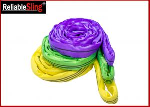 Quality EN 1492-2 Endless Polyester Round Sling , Flexible Soft Round Lifting Sling for sale