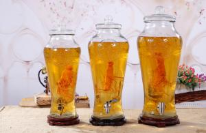 China 10L Juice Glass Wine Pot  Glass Food Canisters , Large Glass Jar With Glass Lid supplier