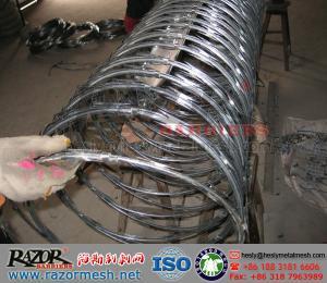 China アコーディオン式かみそりワイヤー(ISO9001 証明書) on sale