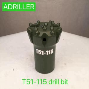 China Normal Skirt Top Hammer Drill Bits T51 115mm For Drifting / Tunneling Drilling on sale