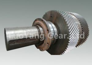 China Large Size Machining Transmission Input Shaft / Steel Worm Wheel Shaft on sale