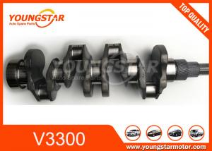 China Casting Iron KUBOTA V3300 Small Engine Crankshaft on sale