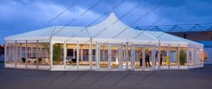 China Custom Made Mixed High Peak Wedding Party PVC Tent For 500 Person capacity Event on sale