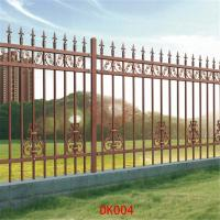 China Antique brass color wrought iron fence Residential place Fence panels Cheap wrought iron fence panels for sale model DK0 on sale