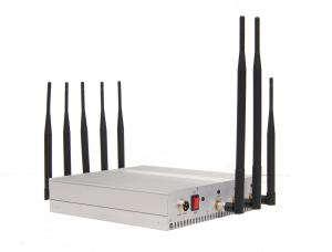Quality 9 Band 16W Cellphone Remote Control Jammer / Blocker 34dBm , 8 Antenna for sale