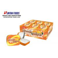 China Classic Square Tin Box Candy Sour Sweets Sugar Free Mints Orange Flavor on sale