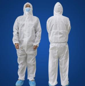 China Safety Unisex Disposable Protective Suit Fluid Resistant Multi Color Available on sale