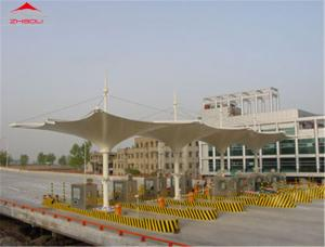 China Large Tensile Membrane Structures 1050gsm PVC Roof Flame Retardant DIN 4102 B1 on sale