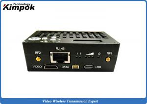 China RS233 / RS485 Ethernet Radio 1W Full Duplex IP Wireless Transmitter and Receiver Encryption on sale