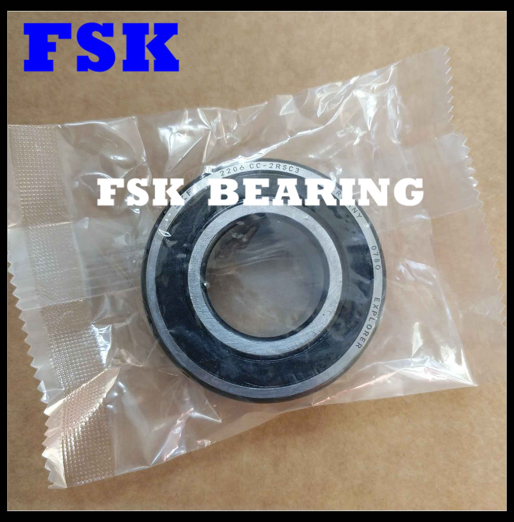 Set of 10 SELF ALIGNING DOUBLE ROW BALL BEARING 2209-2RS WITH 2 RUBBER SEALS