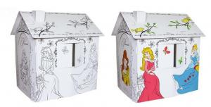 China Cardboard Children Play House, DIY painting & Easy assembled, Fashion design on sale