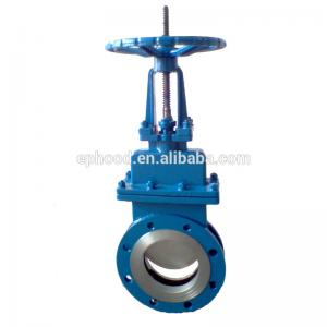 China Double Flange Water Gate Valve Hand Operated Stainless Steel Knife Gate Valve on sale