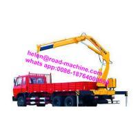 China Truck Mounted Crane Knuckle Boom Truck Crane 5Ton SQ5ZK3Q yellow crane sinotruk chassis on sale