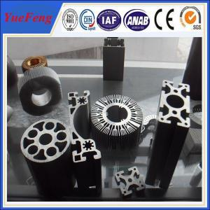 Quality Custom size aluminum extrusion, hot anodized aluminum profile extrusion round for sale