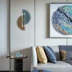 Nordic modern light luxury living room wall lamp creative fashion designer decoration copper bedroom corridor bedside