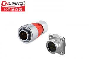 China 7 Pin  Waterproof Circular Connectors IP67 , Waterproof Audio Connector   Metal Housing With Shielded on sale