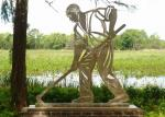 Stainless Steel Outdoor Metal Sculpture , Metal Figure Sculpture For Public Decoration