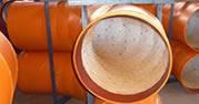 Ceramic tile lined pipe