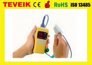 China Small Portable Pulse Oximeter Pulse Fingertip Oximeter Yellow Low Battery Prompt on sale