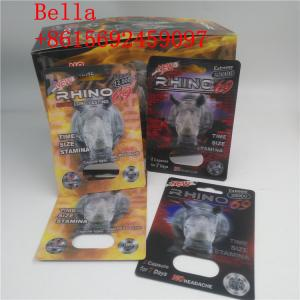 China Private labels Capsule case Black Mamba 18000 / Rhino 69 9000 pill packaging 3D cards on sale