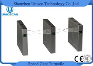 China Full Automatic Flap Pedestrian Turnstile Gate Fast Speed With 10 Pairs Infrared Sensor on sale
