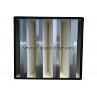 Galvanized Sheet Rigid V Bank Filters Dust Air Filters In HVAC Air Conditional System