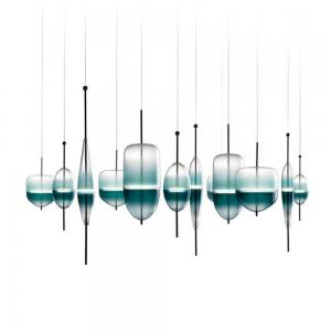 China Modern Designer Stair Led Acrylic Pendant Lighting Chandeliers on sale