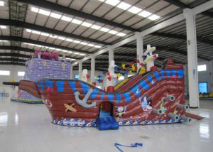 China Large  Kids Outdoor Inflatable Pirate Ship 8.4 X 4.8 X 4.5m Fire Resistance on sale
