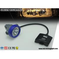 Ultr Bright CERR LED Semi corded Mining Cap Lights With Low Power Warning Function