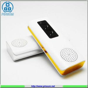 China 4000 mah led TF card bluetooth speaker power bank on sale