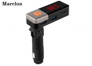 China Hands - Free Automotive Bluetooth Car Charger MP3 Player With AUX Line Out on sale