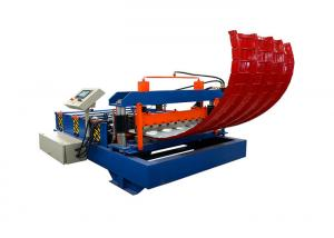 China Auto Curved Hydraulic Bending Machine , Metal Roof Bending Machine 2-6 M / Min on sale