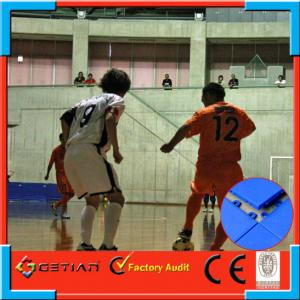 China Portable Plastic Sport Court Flooring With Orange Color , Non Toxic on sale