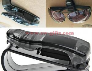 China Car Sun Visor Glasses Sunglasses Ticket Receipt Card Clip Storage Holder Storage Shelf Car Organizer Accessories Platic on sale