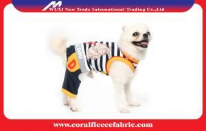China Eco-friendly Material Cute Pet Clothes , Warm Dog Denim Trousers Pets Outerwear on sale