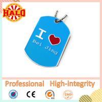 China Heart shape name dog tag thick sublimation dog tag keychain on sale