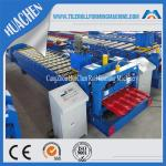 Color Steel Glazed Tile Roll Forming Machine , Roof Wall Cladding Roll Former Machine