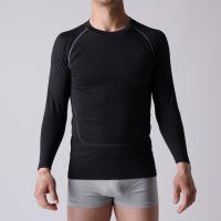 Gym T-shirt,  seamless OEM man sports Shirt,  long sleeve,   XLLS003,  Functional underwear,